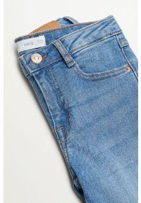 Niebieskie jeansy Mango Kids gładkie