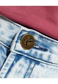 ONETEASPOON - Damskie szorty Marlons Low Waist. Stan: obniżony. Kolor: niebieski. Materiał: bawełna, tkanina, jeans
