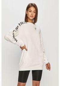 Biała bluza Pinko długa, bez kaptura