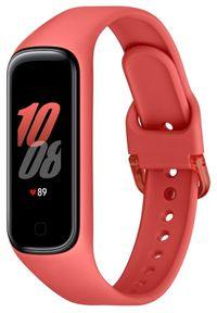 SAMSUNG - Samsung opaska Galaxy Fit2 R220 Red (SM-R220NZRAEUE). Kolor: czerwony. Styl: sportowy
