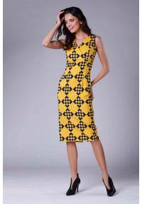 Sukienka Nommo midi, kopertowa, bez rękawów