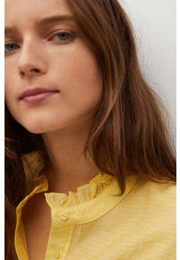 Żółta bluzka mango krótka, ze stójką, gładkie #8