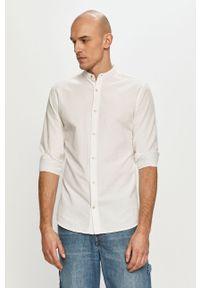 Biała koszula PRODUKT by Jack & Jones z długim rękawem, na co dzień, ze stójką, gładkie