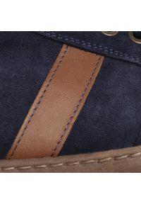 Niebieskie sneakersy Sergio Bardi na co dzień, z cholewką
