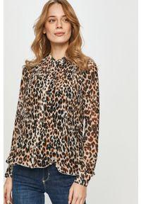 Brązowa koszula Calvin Klein ze stójką, casualowa, długa, z długim rękawem