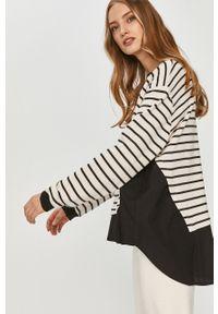 Czarna bluza Answear Lab z długim rękawem, długa, bez kaptura, wakacyjna