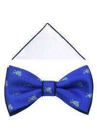 Niebieska muszka Modini elegancka
