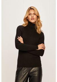 Czarny sweter Marc O'Polo casualowy, polo, na co dzień