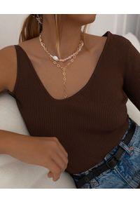 SELFIE JEWELLERY - Naszyjnik z perłami Powder Phases. Materiał: złote. Kolor: biały. Wzór: aplikacja. Kamień szlachetny: perła