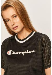 Czarna bluzka Champion na co dzień, casualowa
