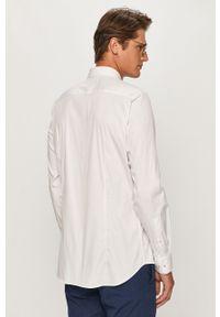 Biała koszula JOOP! długa, z włoskim kołnierzykiem, z długim rękawem, elegancka