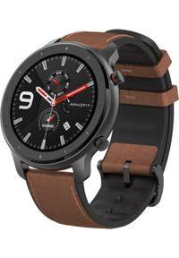 AMAZFIT - Smartwatch Amazfit GTR 47mm Brązowy (A1902-AL). Rodzaj zegarka: smartwatch. Kolor: brązowy