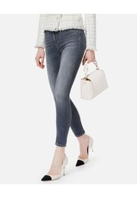 Elisabetta Franchi - ELISABETTA FRANCHI - Szare jeansy skinny. Kolor: szary