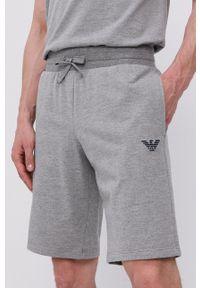 Emporio Armani Underwear - Emporio Armani - Szorty piżamowe. Kolor: szary. Materiał: dzianina