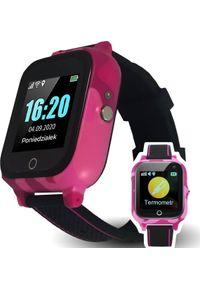 Różowy zegarek CALMEAN smartwatch