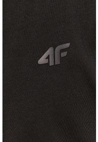 Czarna bluza rozpinana 4f casualowa, z kapturem, na co dzień, gładkie