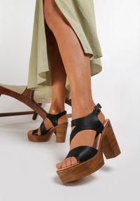 Renee - Czarne Sandały Marimara. Kolor: czarny