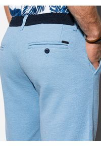 Niebieskie szorty Ombre Clothing krótkie, na co dzień, casualowe