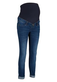 Niebieskie jeansy bonprix moda ciążowa, klasyczne