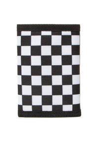 Vans - Duży Portfel Męski VANS - Slipped VN000C32HU01 Black/White Che. Kolor: czarny. Materiał: materiał