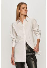 Biała koszula Jacqueline de Yong z klasycznym kołnierzykiem, na co dzień, casualowa, długa