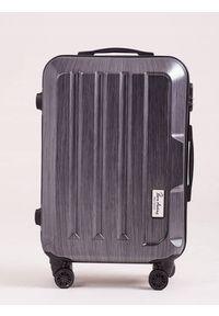 PIERRE ANDREUS - Duża walizka podróżna Pierre Andreus E-ABS roz M. Materiał: materiał. Styl: wakacyjny