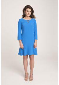 Niebieska sukienka Vito Vergelis na co dzień, na wiosnę, casualowa