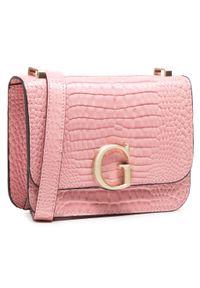 Guess - Torebka GUESS - Corily Mini HWCS79 91780 ROSE. Kolor: różowy. Materiał: skórzane. Styl: klasyczny