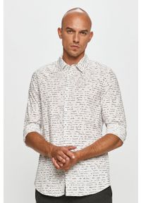 Biała koszula Desigual klasyczna, z długim rękawem
