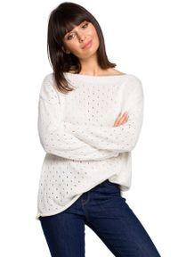 Sweter oversize MOE w ażurowe wzory