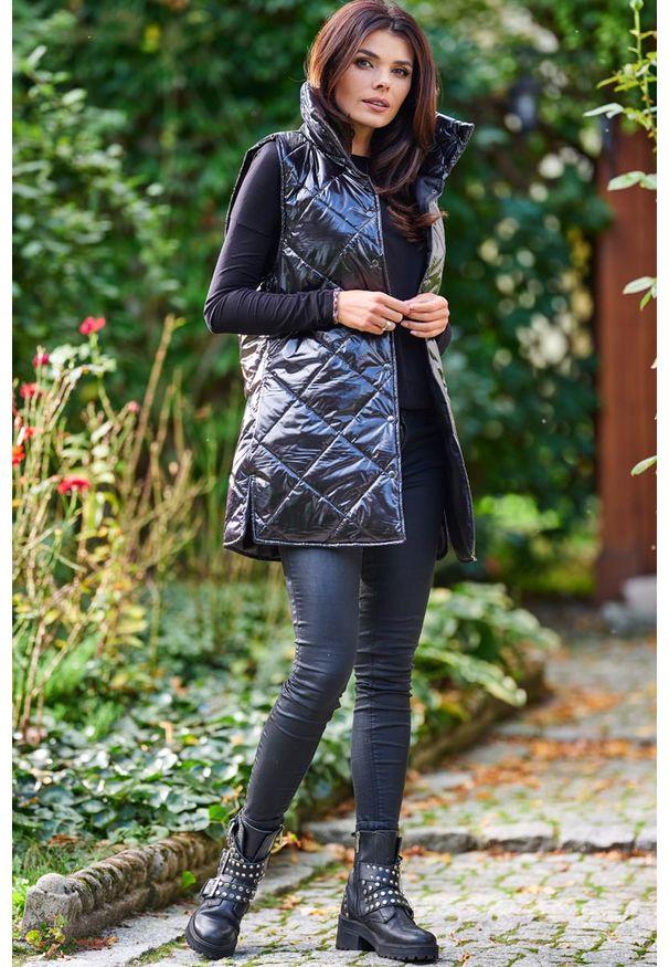 Czarna kurtka pikowana Awama
