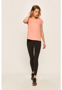 Only Play - T-shirt. Okazja: na co dzień. Kolor: różowy. Materiał: elastan, dzianina, poliester. Wzór: gładki. Styl: casual #4