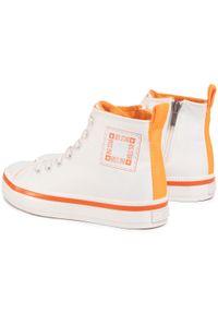 Big-Star - Sneakersy BIG STAR - GG274079 White/Orange. Okazja: na co dzień. Kolor: biały. Materiał: skóra ekologiczna, materiał. Szerokość cholewki: normalna. Styl: casual