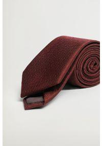 Mango Man - Krawat BASIC7. Kolor: czerwony. Materiał: materiał. Wzór: gładki