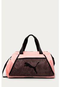 Różowa torba podróżna Puma gładkie