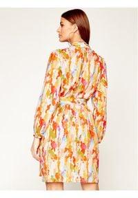iBlues Sukienka koszulowa Aldo 72212302 Kolorowy Regular Fit. Wzór: kolorowy. Typ sukienki: koszulowe