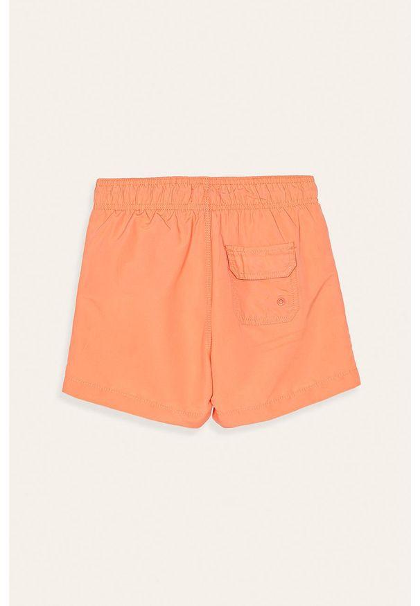 Pomarańczowe spodenki Pepe Jeans z nadrukiem
