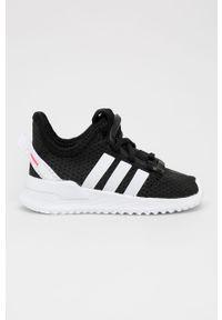 Czarne buty sportowe adidas Originals na sznurówki, z nadrukiem, z cholewką