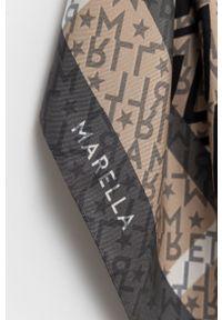 Marella - Apaszka jedwabna. Kolor: czarny. Materiał: jedwab