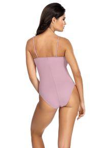 Fioletowy strój kąpielowy Lorin gładki