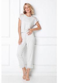 Szara piżama Aruelle gładkie, krótka