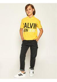 Żółty t-shirt polo Calvin Klein Jeans polo