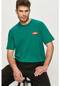 Zielony t-shirt Prosto. casualowy, na co dzień, gładki