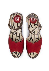 Czerwone sandały Fly London