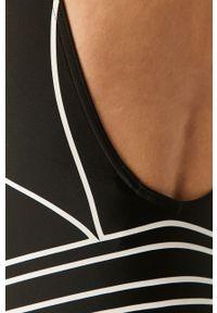 Czarny strój kąpielowy adidas Originals z odpinanymi ramiączkami, z nadrukiem