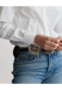 Ralph Lauren - RALPH LAUREN - Bawełniana koszula Straight Fit. Okazja: na co dzień. Typ kołnierza: polo. Kolor: biały. Materiał: bawełna. Długość rękawa: długi rękaw. Długość: długie. Styl: klasyczny, casual
