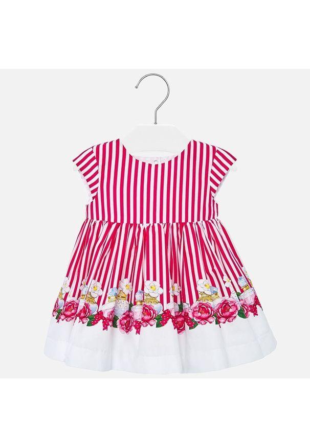 Różowa sukienka Mayoral prosta, na co dzień, casualowa