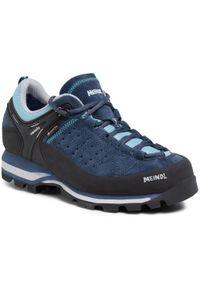 Niebieskie buty trekkingowe MEINDL Gore-Tex, z cholewką