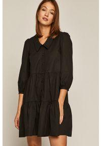 medicine - Medicine - Sukienka Glitch. Kolor: czarny. Typ sukienki: rozkloszowane