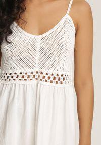 Renee - Biała Sukienka Ariereida. Kolor: biały